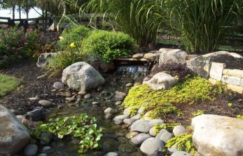 garden stream designed by Mobile Joe's Landscaping
