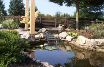 garden stream and pond designed by Mobile Joe's Landscaping