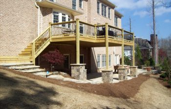 flagstone deck steps