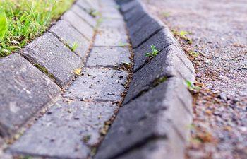 A stone garden gutter